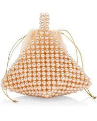 Vanina Inflorescence Le Bourgeon Rose Top Handle Bag - Multicolor