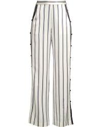 9d78634a1 Fleur du Mal - Loop Trim Stripe Pants - Lyst