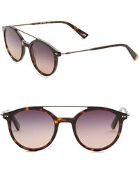 Web - 50mm Round Havana Sunglasses - Lyst