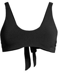 Robin Piccone Ava Scoopneck Bikini Top - Black