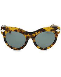 Karen Walker Miss Lark 52mm Cat Eye Sunglasses - Multicolor