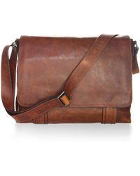 Frye - Logan Leather Messenger Bag - Lyst