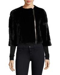 Saks Fifth Avenue - Mink Fur Jacket - Lyst