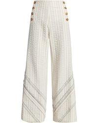 Rosie Assoulin Wide-leg Sailor Pants - Natural