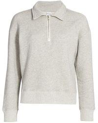 RE/DONE 70s Half-zip Sweatshirt - Gray