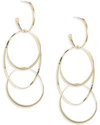 Lana Jewelry - Bond 14k Yellow Gold Large Flat Hoop Earrings - Lyst