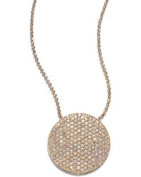 Phillips House 14k Rose Gold & Diamond Pavé Large Infinity Disc Necklace - Metallic