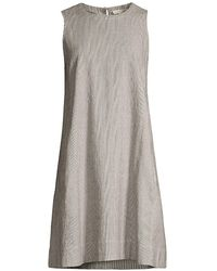 Eileen Fisher Round-neck Sleeveless Dress - Multicolor