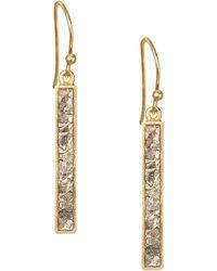 Shana Gulati - Jemma Miladi Raw Diamond & 18k Yellow Goldplated Rectangle Earrings - Lyst