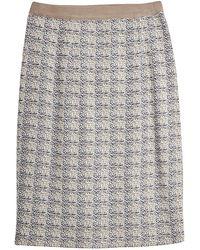 Misook Straight Jacquard Knit Skirt - Gray