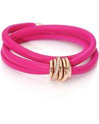 De Grisogono - Allegra Diamond, 18k Rose Gold & Leather Wrap Bracelet/passion - Lyst