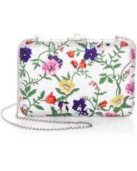 Judith Leiber - Slim Floral Slide Bag - Lyst