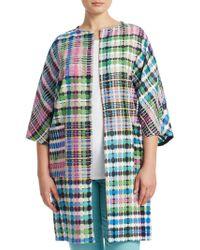 Marina Rinaldi - Fase Long Woven Jacket - Lyst
