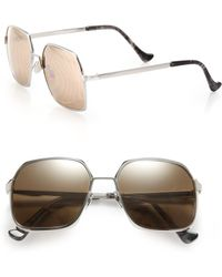 Cutler & Gross - 55mm Oversized Metal Sunglasses - Lyst