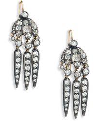 Fred Leighton - Mini Dart Diamond Pendant Earrings - Lyst
