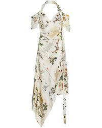 Monse Botanical Halter Dress - Natural