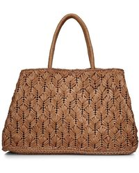 Carrie Forbes Large Raffia Tote - Brown