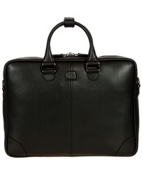 Bric's Varese Business Saffiano Leather Small Briefcase - Black
