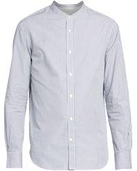 Officine Generale Gaspard Candy Striped Cotton Poplin Shirt - White