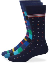Paul Smith - Three-pack Multicolored Socks - Lyst