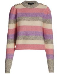 Generation Love Brielle Pearl-button Trimmed Striped Sweater - Pink