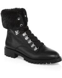 Rebecca Minkoff - Jaylin Leather & Fur Hiking Boots - Lyst