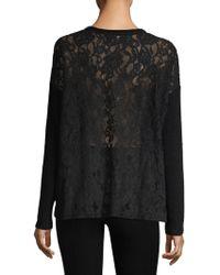 The Kooples - Sweet Fleece Lace Back Sweater - Lyst