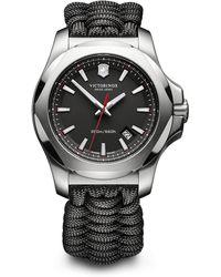 Victorinox - I.n.o.x. Black Paracord Strap Watch - Lyst