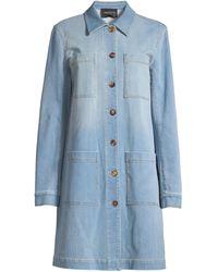 Lafayette 148 New York Corinthia Prestige Mid-length Denim Jacket - Blue