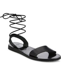 Joie - Pietra Leather Ankle-wrap Sandals - Lyst