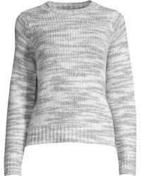 fe91c9f9bc8 Eileen Fisher - Women s Mélange Wool Sweater - Dark Pearl - Size Large -  Lyst