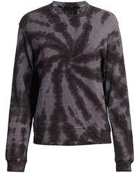 RTA Emma Sparkle Tie-dye Sweatshirt - Gray