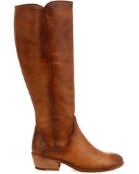 Frye - Carson Leather Piping Tall Western Boots - Lyst