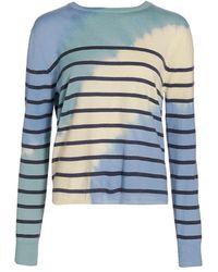 Prabal Gurung Striped Tie-dye Sweater - Blue