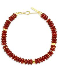 Lizzie Fortunato Sanskrit 18k Yellow Goldplated & Carnelian Bead Necklace