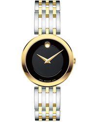 Movado - Women's Esperanza Stainless Steel & Goldtone Watch - Black - Lyst