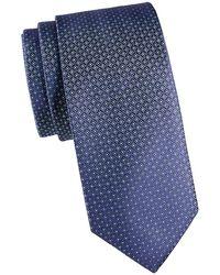 Eton Medallion Silk Tie - Blue