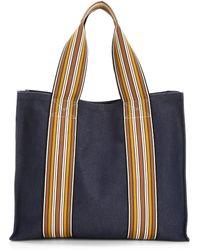 Loro Piana - The Suitcase Stripe Cotton Tote - Lyst