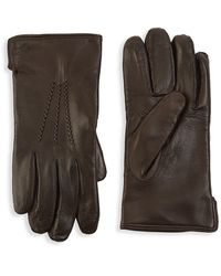 Saks Fifth Avenue Collection Leather Touch Tech Gloves - Brown