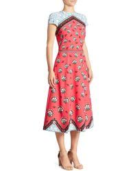 Mary Katrantzou | Cap-sleeve Midi Dress | Lyst
