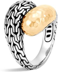 John Hardy - Classic Chain 18k Yellow Gold Ring - Lyst