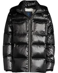 The Very Warm Richmond Hooded Down Jacket - Black