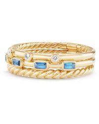 David Yurman - Novella Three-row Gemstone & Diamond Ring - Lyst