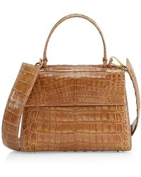 Nancy Gonzalez Small Lexi Crocodile Top Handle Bag - Brown