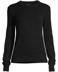 Tory Burch Cashmere Sparkle Elbow-patch Sweater - Black