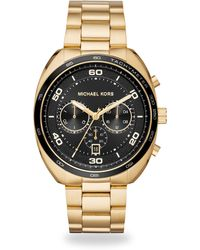 Michael Kors - Dane Goldtone Stainless Steel Chronograph Watch - Lyst