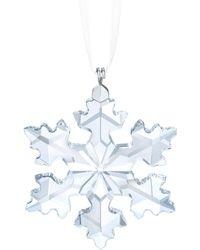 Swarovski - Crystal Snowflake Ornament - Lyst