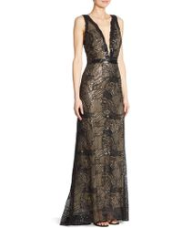 Liancarlo - Beaded Tulle Gown - Lyst