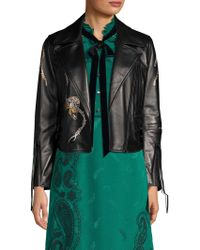 COACH - 1941 Printed Leather Moto Jacket - Lyst