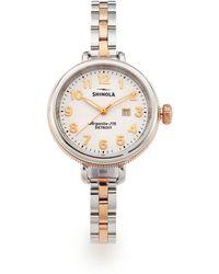 Shinola - Birdy Rose Goldtone Pvd & Stainless Steel Bracelet Watch - Lyst